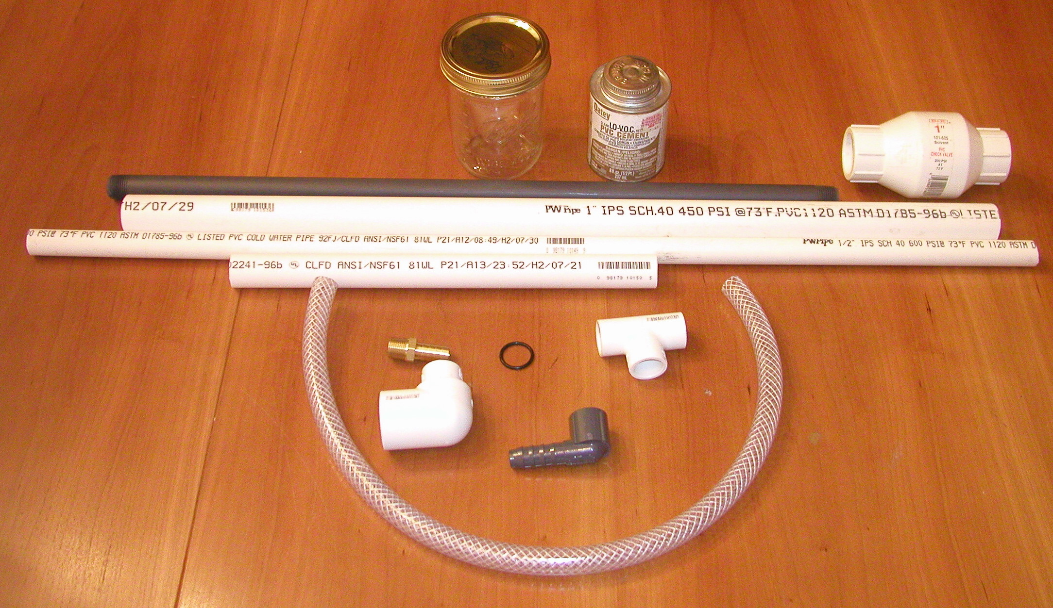 Click on image for a larger picture & Chapter 6: Aerodynamics: Homemade vacuum pump and water pump