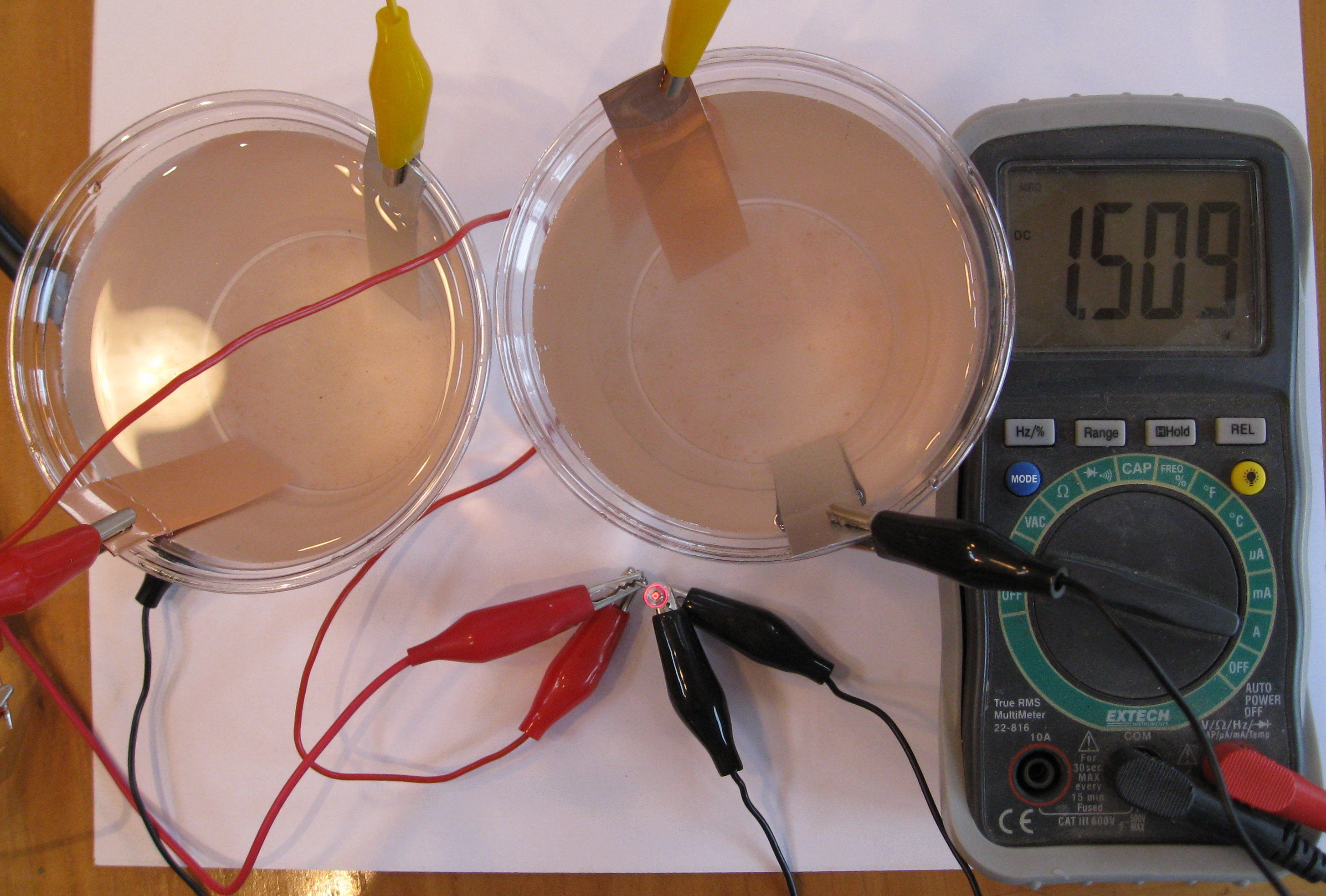 Chapter 3 Electrochemistry Make Homemade Batteries In Your Kitchen Wiring Two Identical Series Will Double The Voltage But