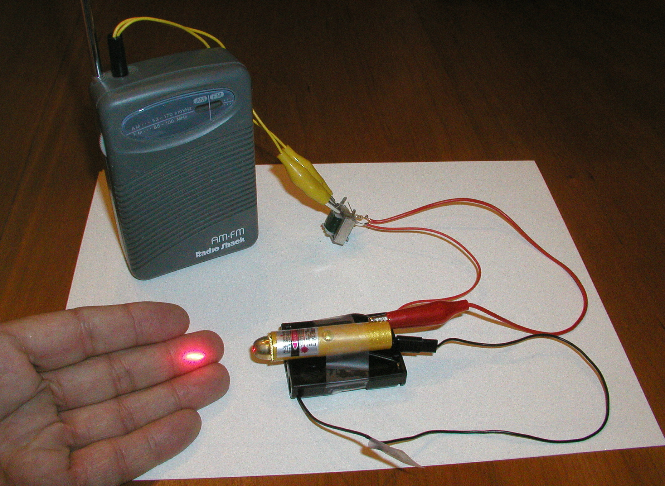 Chapter 7 Light And Optics Build A Laser Communicator Send Your Lessons Electric Circuits Volumeexperiments Wiring Circuit Click On Photo For Larger Picture