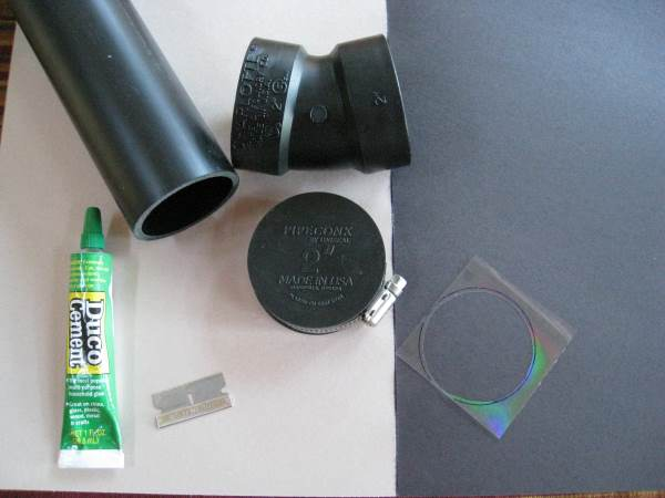 What you need to make the high resolution spectroscope