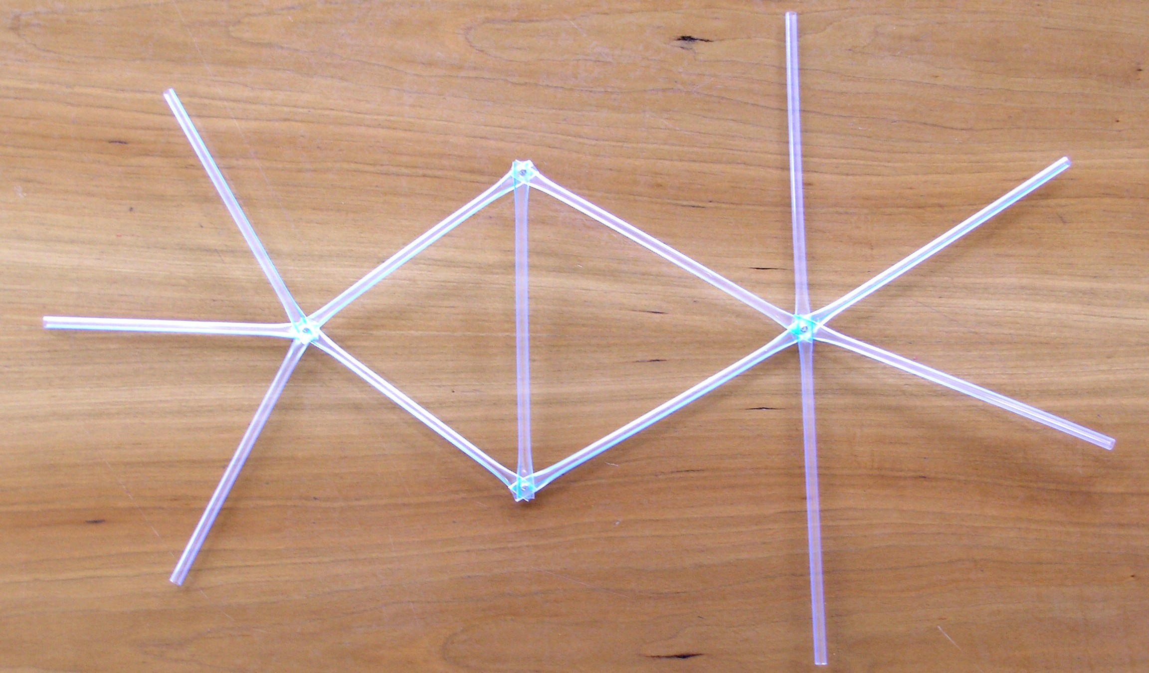 Geodesic dome parts made of straws