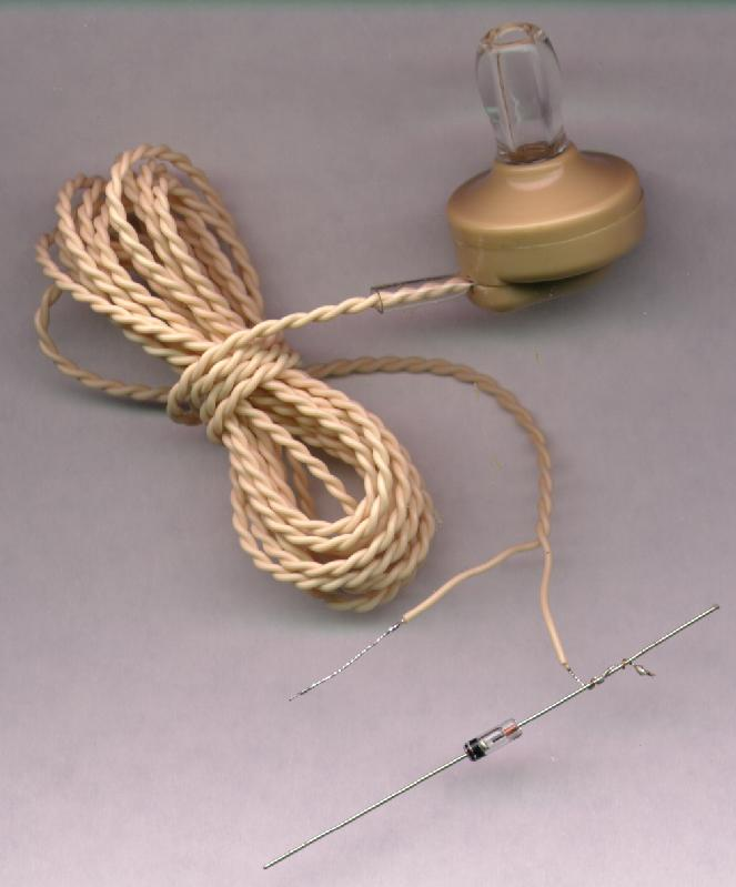 The simplest crystal radio
